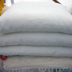Vankúš plnený pohánkovými šupkami ľanový