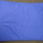 Vankúš plnený pohánkovými šupkami -modrý,biele bodky